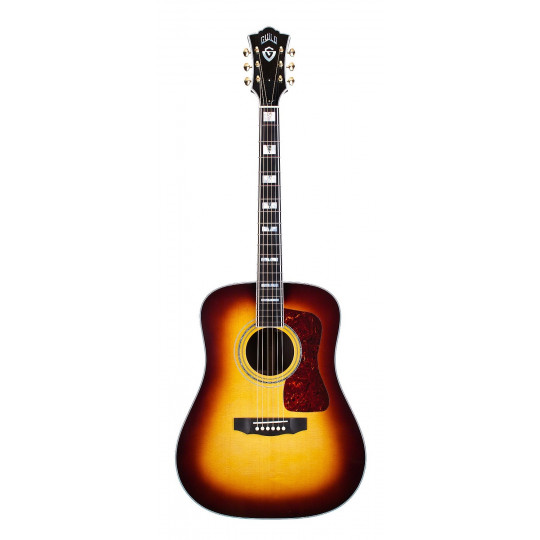 Guitarra electroacústica Guild D-55E Antique Burst